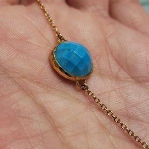 Stella & Dot Faux Turquoise Gold MAYA Bracelet